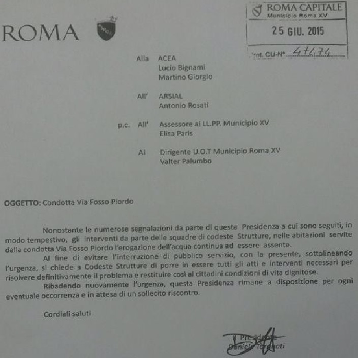 lettera arsial