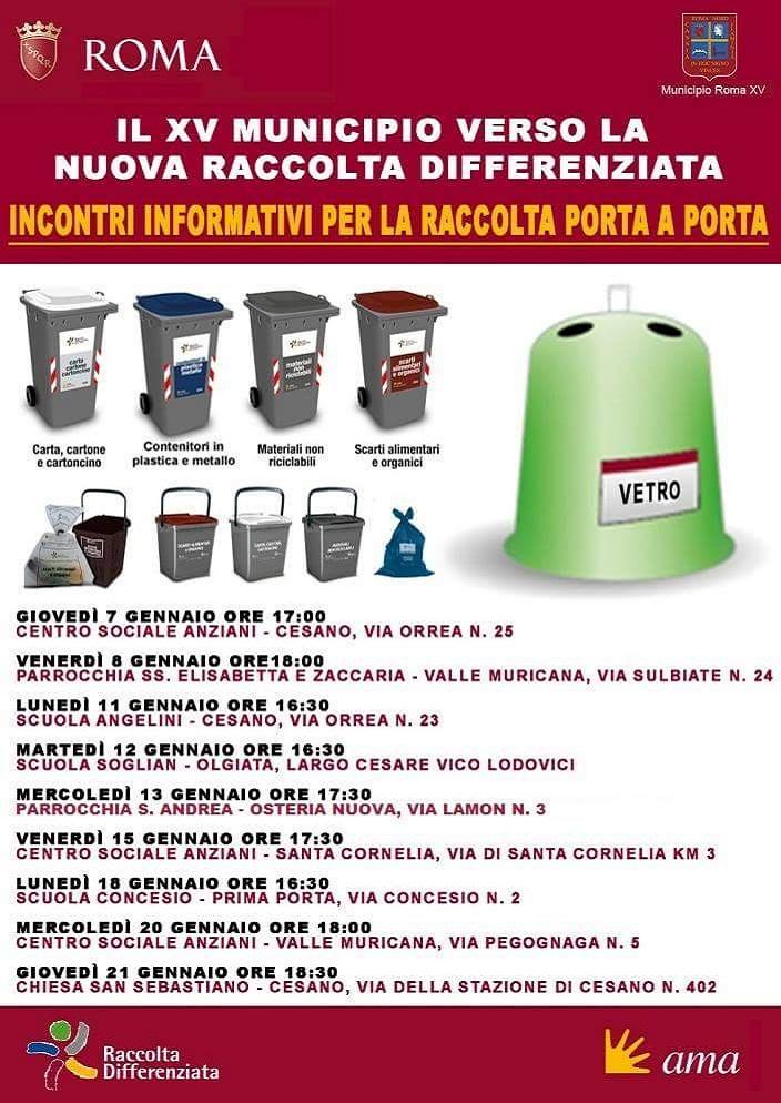 Locandina Incontri AMA Municipio Roma XV